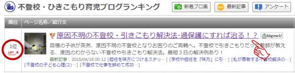 人気ブログランキング不登校部門で1位達成!